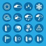 Insieme di simboli del tempo nel telaio rotondo Fotografia Stock Libera da Diritti