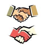 Insieme di simboli della stretta di mano Immagine Stock Libera da Diritti