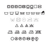 Insieme di simboli di lavaggio Immagini Stock