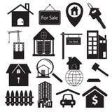 Insieme di simboli di Real Estate Fotografia Stock Libera da Diritti