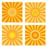 Insieme di simboli di Sun Illustrazione di vettore Natute Immagine Stock