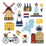 Insieme di simboli olandese Fotografia Stock