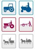 Insieme di simbolo del coltivatore. Fotografia Stock