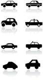 Insieme di simbolo dell'automobile. Fotografie Stock