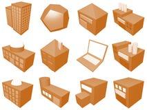 Insieme di simbolo dell'icona della gestione di catena di rifornimento Fotografia Stock