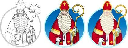Insieme di Sinterklaas del carattere di Natale Fotografia Stock