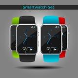 Insieme di Smartwatch Fotografia Stock Libera da Diritti