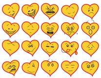 Insieme di smiley royalty illustrazione gratis