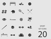 Insieme di sport delle icone piane Illustrazione di vettore Illustrazione Vettoriale