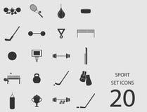 Insieme di sport delle icone piane Illustrazione di vettore Royalty Illustrazione gratis
