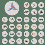 Insieme di stile del triangolo degli animali Immagine Stock Libera da Diritti