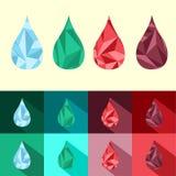 Insieme di stile del triangolo della gocciolina Fotografia Stock