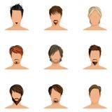 Insieme di stile di capelli dell'uomo Immagini Stock