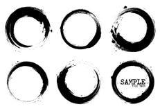 Insieme di stile di lerciume delle forme del cerchio Vettore Immagine Stock