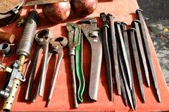 Insieme di strumenti d'annata Fotografia Stock