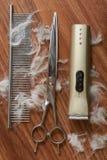 Insieme di strumenti governare dell'animale domestico Fotografia Stock