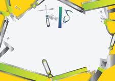 Insieme di strumenti verde Immagine Stock