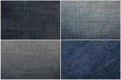 Insieme di struttura dei jeans Fotografia Stock