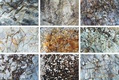 Insieme di struttura della roccia Fotografia Stock Libera da Diritti