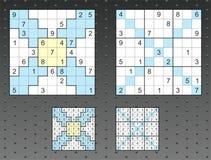 Insieme di Sudoku Fotografia Stock