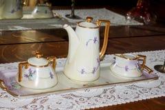 Insieme di tè antico Immagini Stock Libere da Diritti