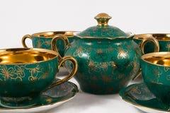 Insieme di tè antico della porcellana Fotografia Stock Libera da Diritti