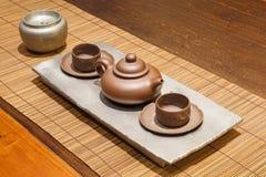 Insieme di tè asiatico Immagini Stock