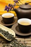 Insieme di tè asiatico. Fotografie Stock