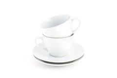 Insieme di tè bianco Fotografia Stock