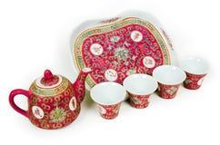 Insieme di tè cinese Fotografie Stock Libere da Diritti