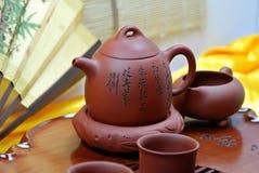 Insieme di tè cinese Fotografia Stock Libera da Diritti