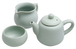 Insieme di tè cinese della zuppiera di Ru Fotografie Stock