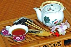 Insieme di tè con tè cinese Fotografia Stock