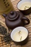 Insieme di tè del cinese tradizionale fotografie stock libere da diritti
