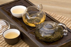 Insieme di tè del cinese tradizionale immagini stock libere da diritti