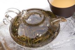 Insieme di tè del cinese tradizionale immagini stock