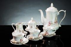 Insieme di tè di ceramica Fotografie Stock Libere da Diritti
