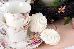 Insieme di tè e caramelle gommosa e molle Fotografia Stock