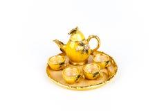 Insieme di tè miniatura Fotografia Stock Libera da Diritti