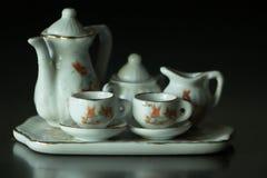 Insieme di tè miniatura Fotografia Stock