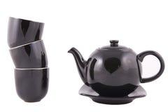Insieme di tè nero della Cina Fotografie Stock