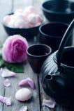 Insieme di tè asiatico Fotografie Stock Libere da Diritti