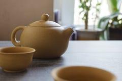 Insieme di tè dell'argilla di Yixing Fotografia Stock