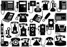 Insieme di telefono illustrazione vettoriale