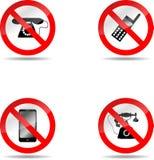 Insieme di telefono di divieto Immagine Stock