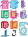 Insieme di telefono domestico illustrazione di stock