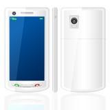 Insieme di telefono mobile bianco Immagini Stock