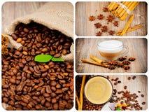 Insieme di tema del caffè Fotografia Stock