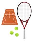 Insieme di tennis Fotografie Stock Libere da Diritti