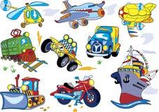 Insieme di trasporto del fumetto illustrazione di stock